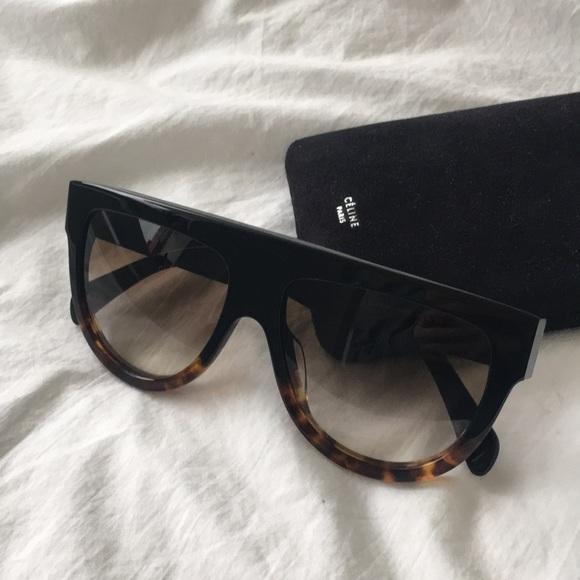 3bd9d76a69b70 Céline Shadow Aviator Sunglasses
